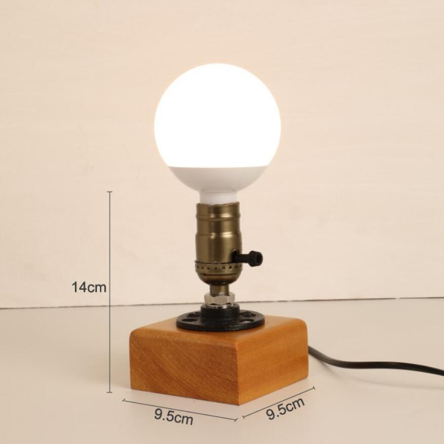 Quality Table Lamps: New Small Solid Wood Desk Lamps High Quality E27 Bulb Led