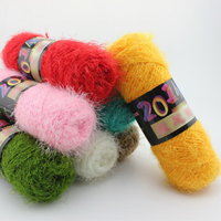 12 Pcs Fluffy Eyelash Yarn Velvet Knitting Yarn Multicolor Feather Down Hand woven Yarn Crochet Coral Cashmere Yarn Mixed color