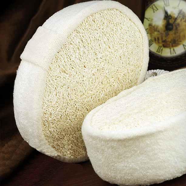 1 Pz Morbido Fresh Natural Loofah Luffa Spugna Doccia Spa Corpo Scrubber Exfolia
