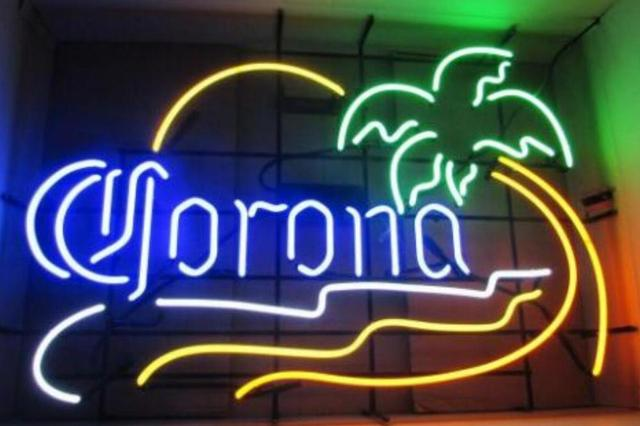 Custom Corona Extra Sunset Glass Neon Light Sign Beer Bar