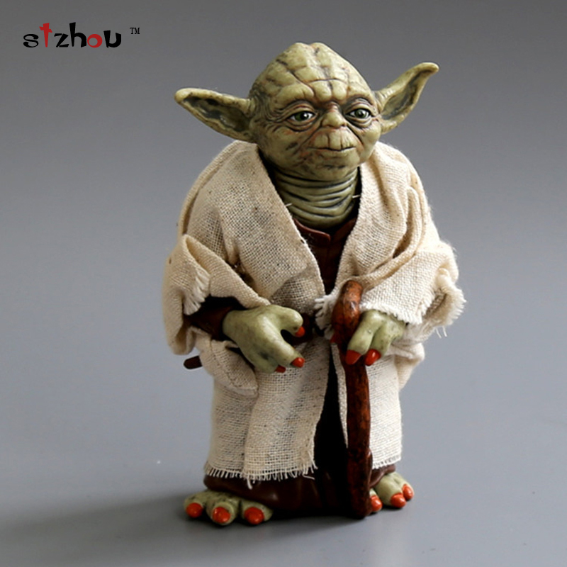 Star Wars 13cm Jedi Master Yoda PVC Action Figure Simulation Model Toy Yoda Toy Gift Free Shipping