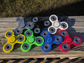 Color Tri-Spinner Fidget Juguete/cojinete de cerámica/mano spinner oficina tot/SpinGett/SPINPAL/EDC Spinner Fidget Multi Juguete