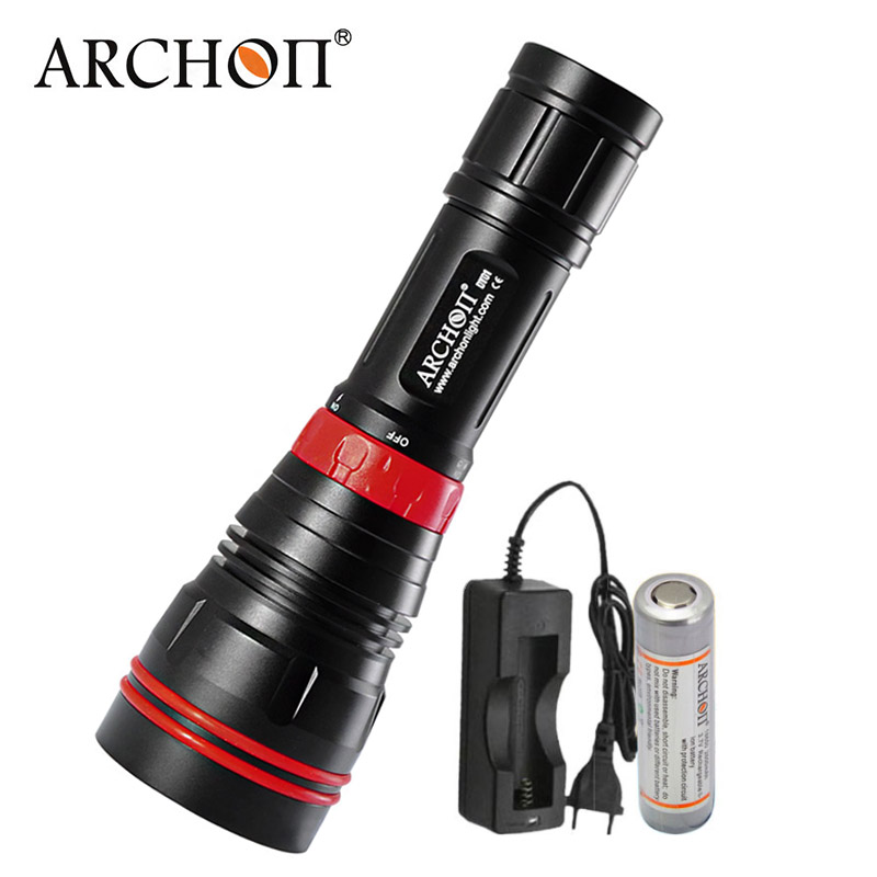 Diving Flashlight 1000LM LED Diver Diving Light ARCHON WY07 DY01 Waterproof Dive Torch Light Optional 26650