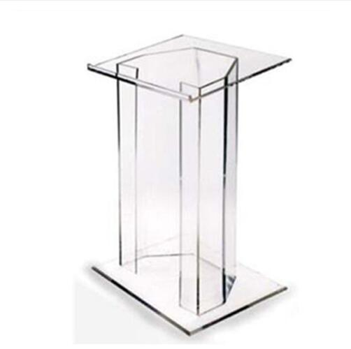 Luxury Display Goods Acrylic Lectern Acrylic Podium Products Plastic Podium