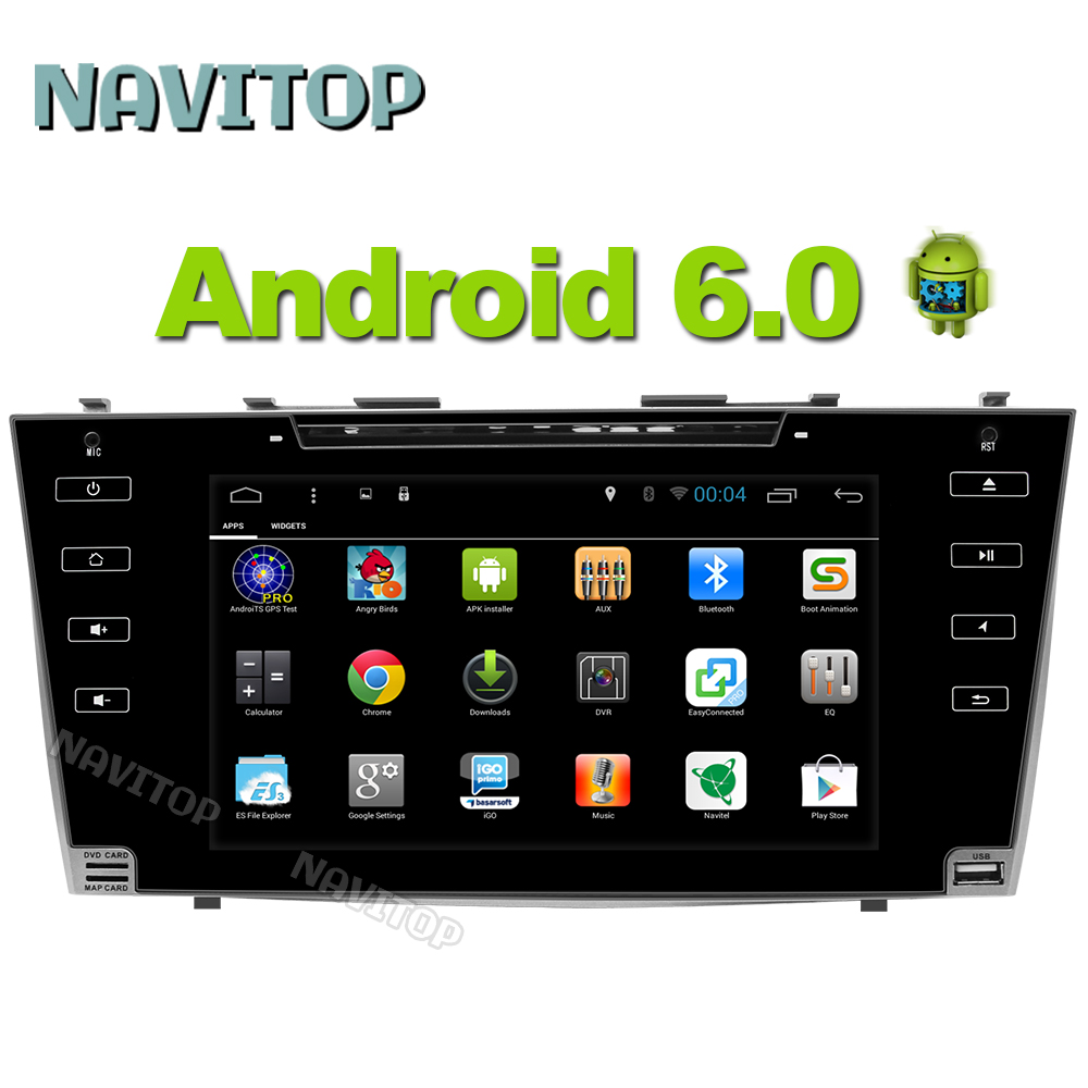 Navitop android 6 0 car dvd player gps for toyota camry Aurion 2006 2007 2008 2009