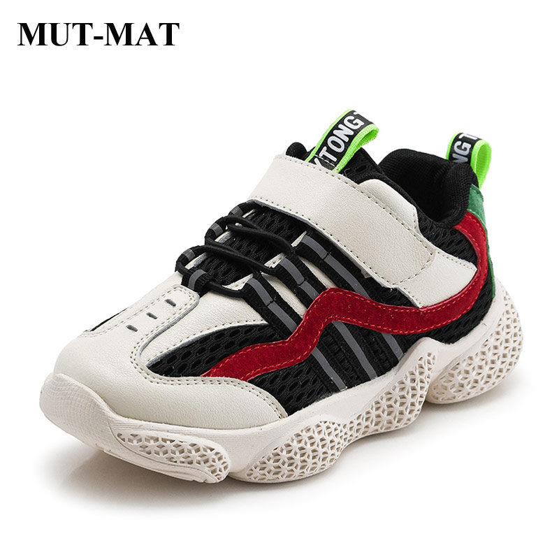 Children's Shoes Boys Girls Sports Shoes 2019 New Autumn Fashion Contrast Color Sneakers Soft Bottom Non-slip Shoes Size 26-37