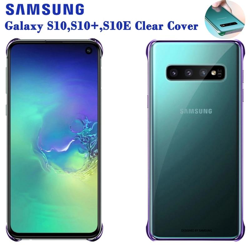 SAMSUNG Original Phone Cover Hard Shell for Samsung GALAXY S10E S10X S10 Plus S10Plus SM-G9700 G9730 Transparent Hard Phone Case