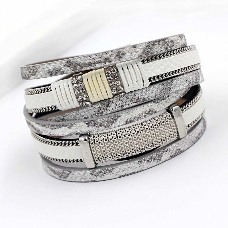 VONNOR Bracelet pour Femmes Hommes Multicouche Bracelet En Cuir Bracelets Bijoux Féminins Magnétique Wrap Bracelet Dropshipping