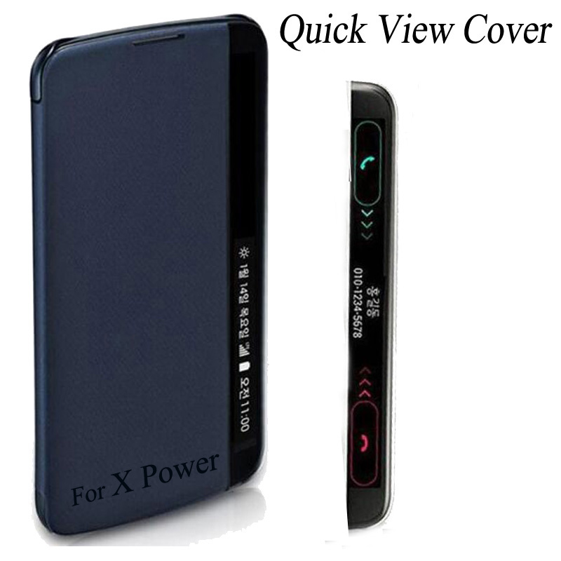Fundas For Coque LG X Power Case Smart Quick View Cover With Answer Call Side Window For LG X Power K220ds K210 K220 Sleep Capas