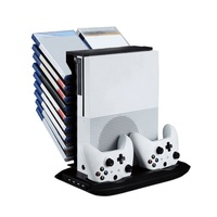 Mutilfunction Stand Holder Console Cooling Fan Stands Game Console Vertical Stand W/ USB Storage For XBOX ONE Slim Console
