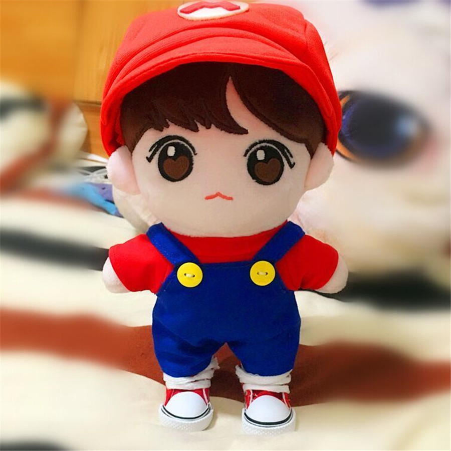 20CM Kpop BTS BANGTAN BOYS JUNG Plush Toy Soft not include doll Cosplay Mario Clothes Fan Goods Be Girlfriend Gift Accessories jung hae in fan meeting seoul
