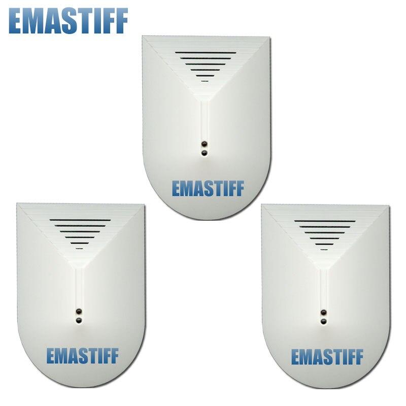 imágenes para Envío Libre! 3 Unids/lote Wired Seguridad Para El Hogar Sistemas de Alarma Sensor Detector de Rotura de Vidrio
