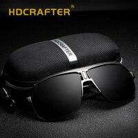 Солнцезащитные очки-авиаторы Для Мужчин Поляризованные UV400 Классический бренд дизайн очки, подходят для вождения, солнцезащитные очки высо...