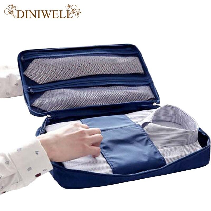 Camisa delgada del bolso portable de la bolsa lazo antiarrugas almacenamiento viaje o viaje de negocios Ropa Accesorios organizador