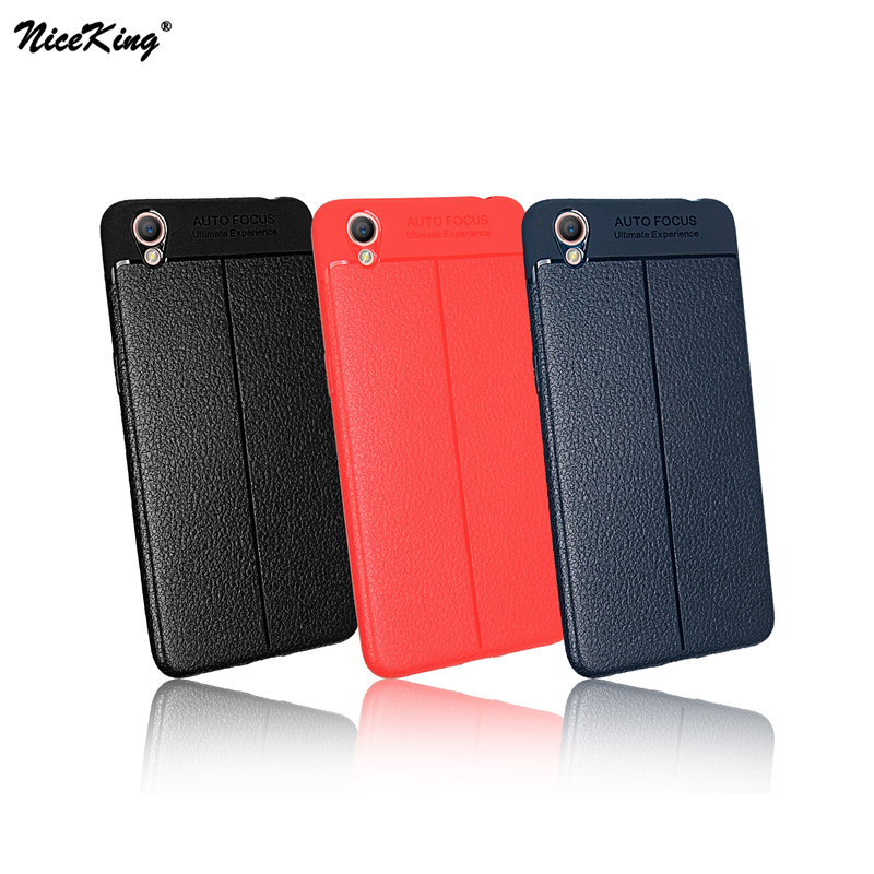 pretty nice ada49 a3b3c US $1.99 |OPPO A37 Case NiceKing Luxury Litchi Striae Soft TPU Silicone &  PU Leather Back Cover Full Protective Case For OPPO A37 Coque-in Fitted ...