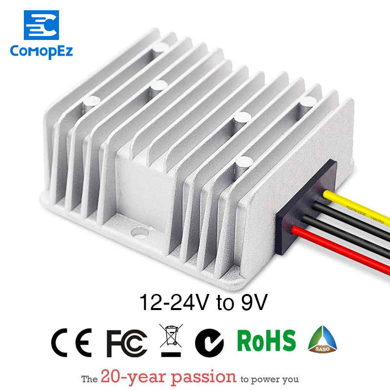 DC Converters Power DC/DC Step-down 12V/24V to 9V 5A Waterproof Car Module Low Heat Auto Controller 12V Converters image