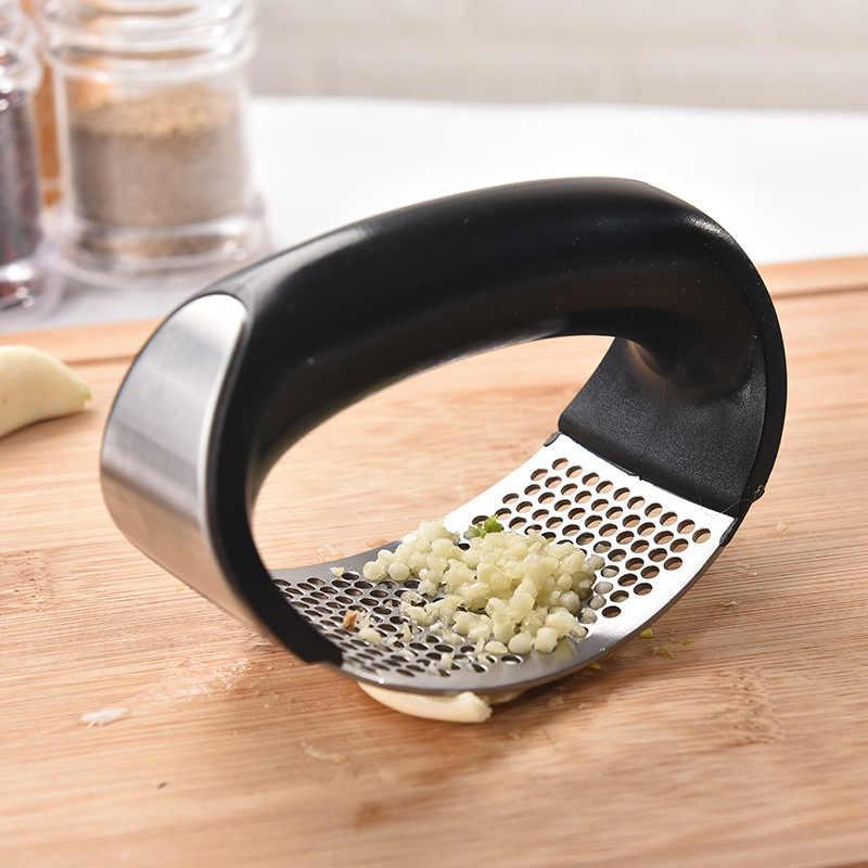 1 Uds., prensa de ajo de acero inoxidable, picadora Manual de ajo, herramientas para cortar, para ajo, curvo, herramientas para fruta y verdura, utensilios de cocina
