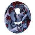 [Oda A la Alegría] forme a mujeres la bufanda de gran tamaño sol flor impresa bufandas Bucle Infinito gasa Bufanda foulard bufandas de buena calidad