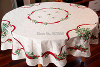 Free shipping Exported to Europe and golden Christmas leaf jacquard fabric tablecloth Buu style