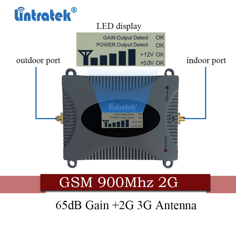 Image 3 - Lintratek Russia 2G GSM 900mhz 65dB Signal Booster GSM 900  Cell Phone Cellular Signal Repeater Amplifier + GSM Yagi Antenna-in Signal Boosters from Cellphones & Telecommunications