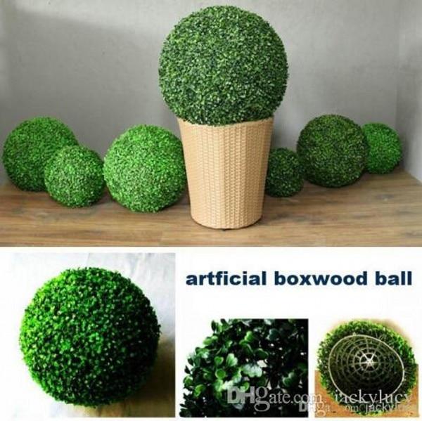 40CM 16inch artificial Plastic Milan Grass boxwood ball kissing ball for Garden Home Decor Wedding Christmas Bar Party Decor 1