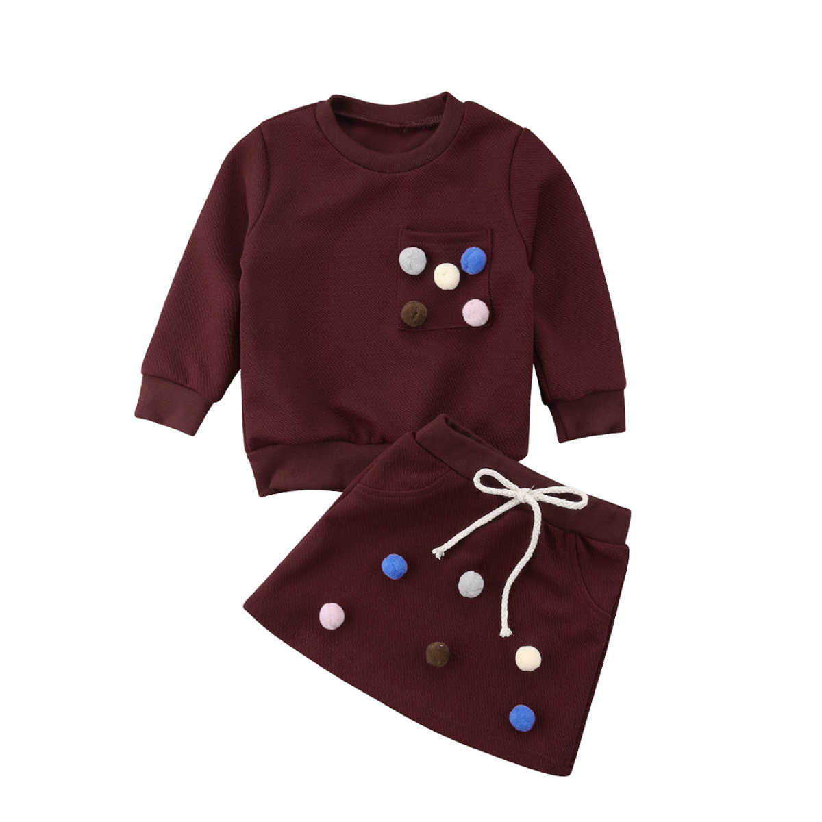 3e853ab708 2019 Emmababy New Hot Toddler Kids Baby Girls Long Sleeve Outfits Set Shirt  +Short Skirt