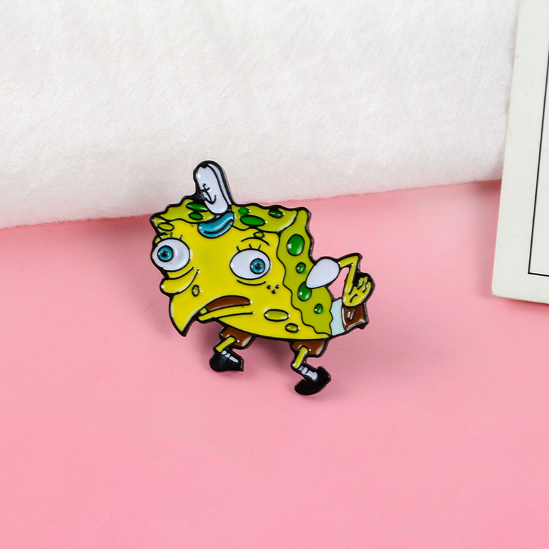 Sponge-Mocking-Pin-Button-Trading-Funny-Flair-Captain-hat-Terrible-look-Enamel-brooches-badges-Lapel-Pin(2)