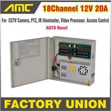 CCTV Power Box 18 Channel 12V 20A CCTV Camera PTZ IR Illuminator Access Control for 18CH DVR CCTV Camera Power Supply
