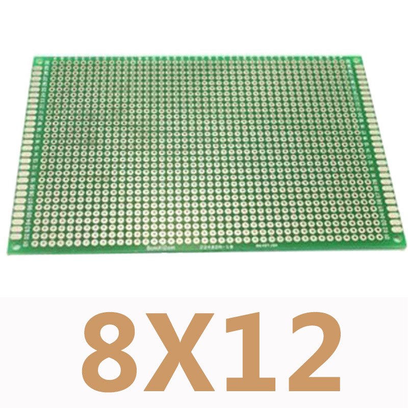 2Pcs Double side Protoboard Circuit Universal DIY Prototype PCB Board 8x12cm