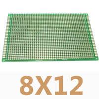 1 pieza 8X12cm doble cara cobre prototipo DIY circuito impreso Universal PCB tablero Protoboard para Arduino
