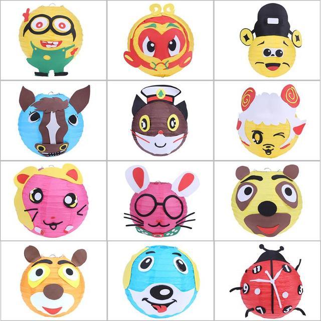 Diy Cartoon Lantern Handmade Festive Toys Gift Craft Kids Children