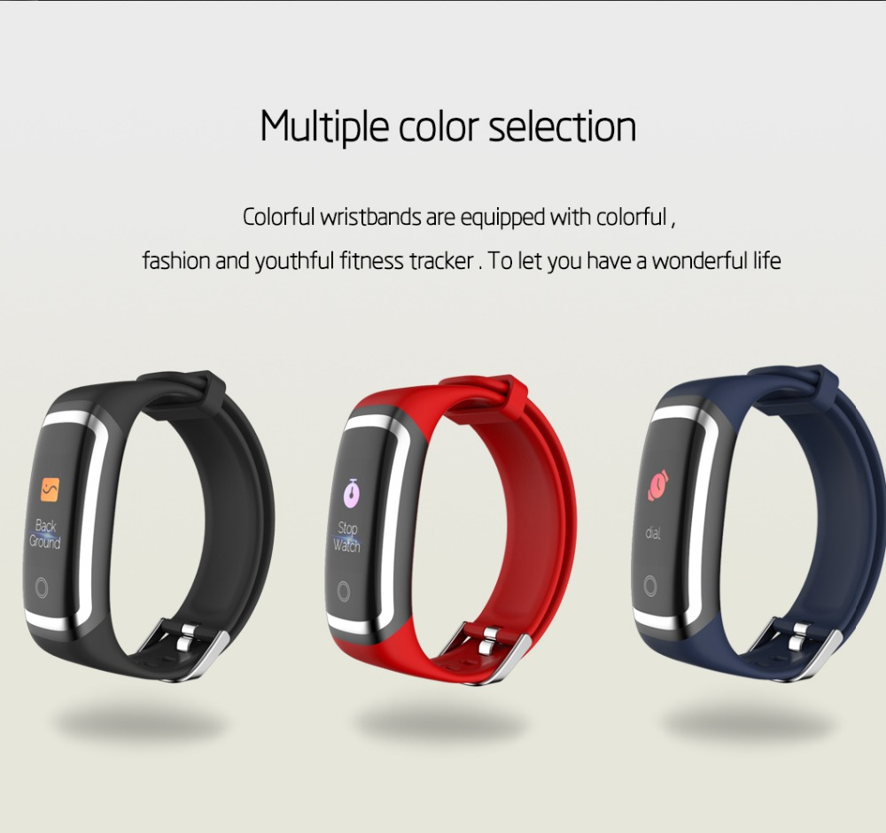 Wearpai M4 fitness tracker Color screen blood pressure passometer message/call reminder smart bracelet for sports swimming 17
