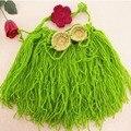 Bebê Recém-nascido menina Praia Hula Grass Skirt Set Malha Crochet Fotografia Foto Props Cocar Menina Conjuntos de Sutiã De Coco Grass Skirt