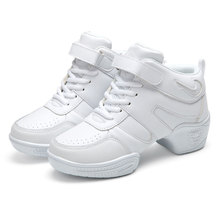 New Arrival Women Ladies Modern Dance Sneakers Jazz Hip hop Dancing Shoes High Tops Fitness Sports