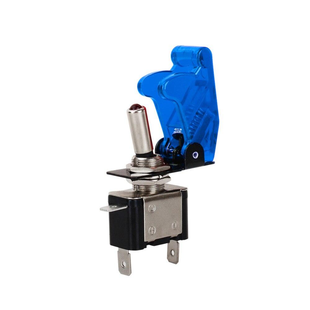 1 шт. голубой цвет 12 В 20A авто крышка светодиодный свет SPST Переключить кулисный переключатель Управление On/Off прочный