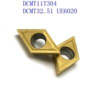 us735 כלי קרביד כלי 20PCS DCMT11T304 / DCMT32.51 VP15TF / UE6020 / US735 קרביד להב פנימי מפנה מחרטה כלי CNC גַיֶצֶת כלי (3)