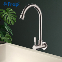 Frap Kitchen Faucet Mixers Sink Tap Wall Mounted  Single Cold Water Flexible 304 Stainless Steel Accessories Y40530