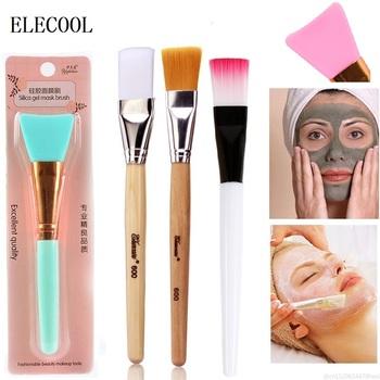 1PC maska silikonowa szczotka DIY mieszanie błoto podkład do twarzy pielęgnacja skóry uroda makijaż pędzle dla kobiet dziewczyn Maquillaje hurtownie tanie i dobre opinie ELECOOL Koza włosów NYLON Włókna wełny 1pcs 51800 makeup brush Zestawy i zestawy Drewna Pędzel do makijażu Facial Mask Brush