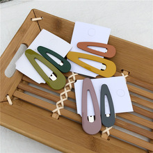 Addy store Korea acrylic hairpins BB clip geometric 12 pieces a lot hollowed color droplet clips hair pins for girls