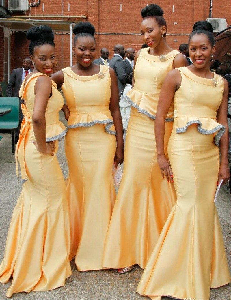 Yellow Gold Bridesmaid Dresses