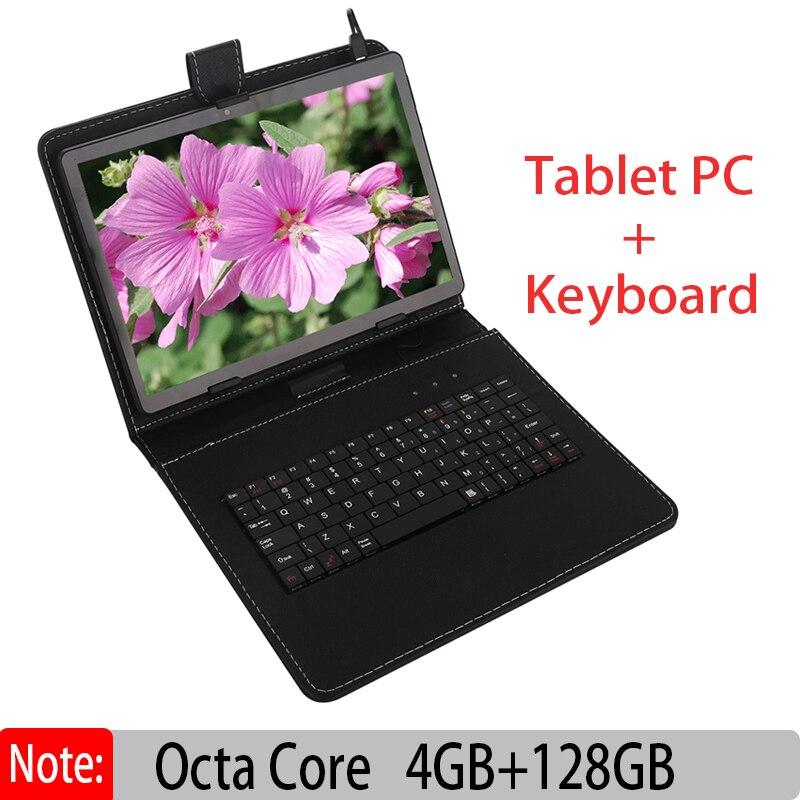 Original Nouveau 10 pouce Android Tablet PC Octa Core 4 gb 128 gb avec Google Plya WiFi Appel Téléphonique 3g AJOUTER Clavier En Cuir Cas Comprimés