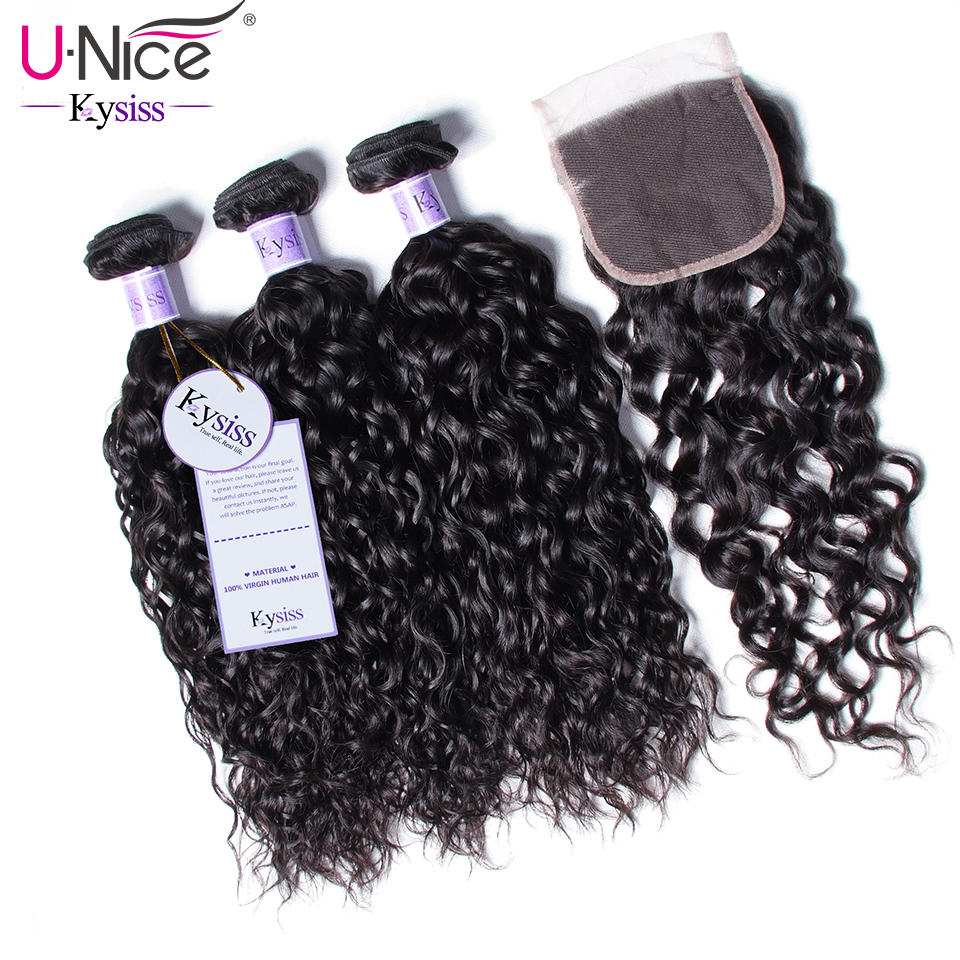 UNice Hair Kysiss Series Malaysia Water Wave Virgin Human Hair Extension 8 26inch 3 PCS Bundles