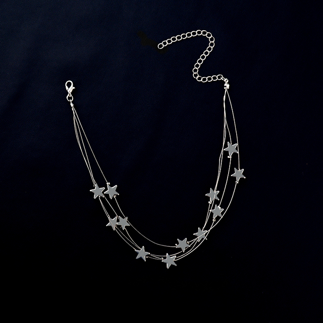 Multiple Layer Stars Choker Necklace 2