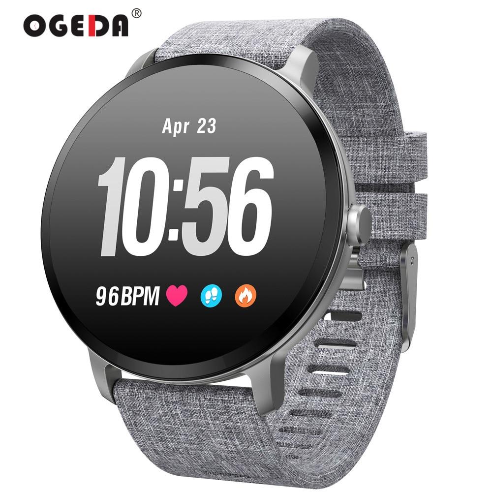 OGEDA V11 Смарт-часы IP67 Водонепроницаемый закаленное Стекло активности Фитнес трекер монитор сердечного ритма поля Для мужчин Для женщин Smartwatch