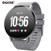OGEDA V11 Smart Watch IP67 Waterproof Tempered Glass Activity Fitness Tracker Heart Rate Monitor BRIM Men Women Smartwatch