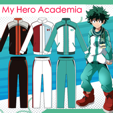 цены на Anime My Hero Academia Cosplay Costume Izuku Midoriya  Katsuki Bakugou Shouto Todoroki Cosplay Shouto New Style Sportswear Party в интернет-магазинах