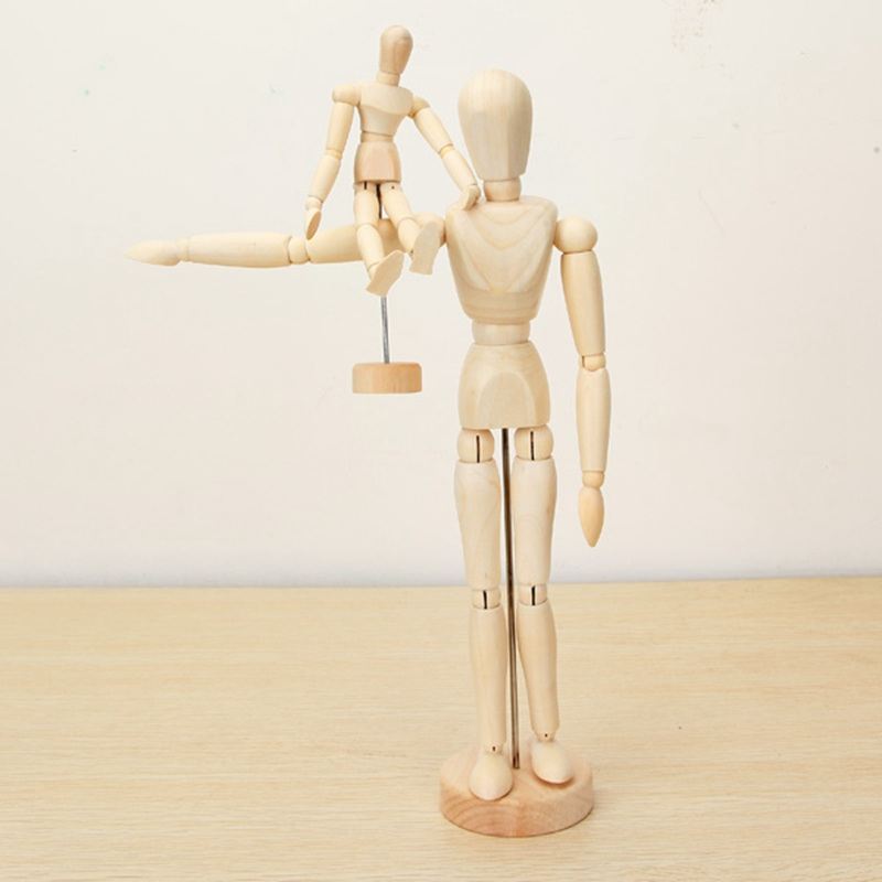 Brand-New-Wooden-Jointed-Doll-Man-Artist-Figures-Model-Painting-Sketch-Cartoon-Blockhead-Jointed-Model-Puppet (2)