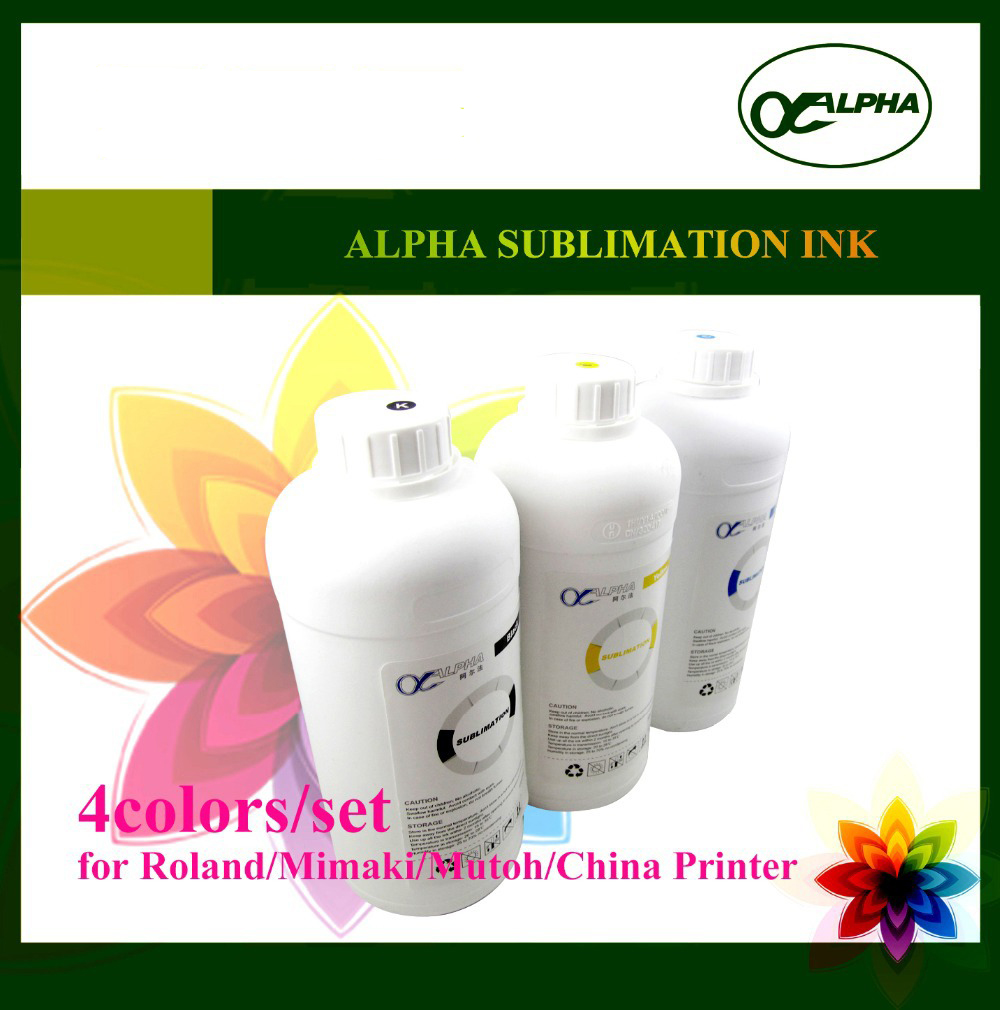 4Colors/set 1liter Sublimation Ink in Bottle for Roland/Mimaki/Mutoh/Alpha/China Printer pa 1000l printer ink damper for roland rs640 sj1045ex sj1000 mutoh rhx vj1064 more