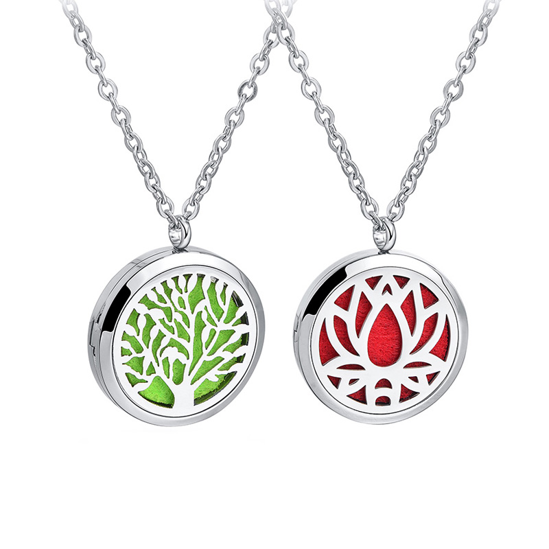 Aromatherapy Necklace Essential Oil Diffuser Necklace For Gift with Free Felt Pads and Chain