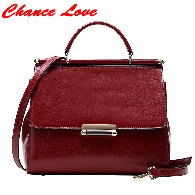 ФОТО Chance Love 2017 New Women Handbags Bags Flap European and American Style Soft Genuine Leather Solid Cover Zipper Bags Lady